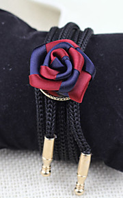 Men Vintage/Party/Casual Nylon/Other British Style Rose Bolo Neck Tie