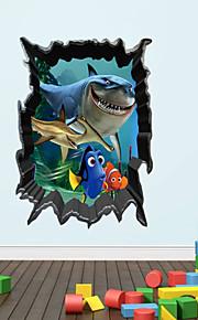 Animali / Fantasia / 3D Adesivi murali Adesivi 3D da parete , Vinyl stickers 50*70cm