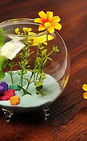 table center glass hage tema fisk bolle bord deocrations (sand ikke inkludert, blomster ikke inkludert)