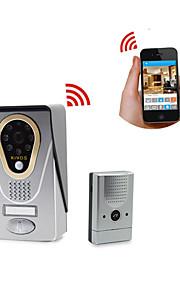 zoneway® kivos kdb400 720p hd wifi ip video deurtelefoon deurbel ondersteuning iOS en Android app, TF-kaart opslag