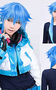 Angelaicos Women Long Dramatical Murder DMMd AOBA Blue Gradient Straight Lolita Halloween Cosplay Costume Party Wig