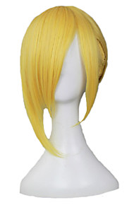 Angelaicos Men Attack On Titan Annie Leonheart Golden Ponytail Updo Medium Costume  Halloween Party Cosplay Full Wig