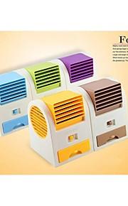 usb batteridrevet elektrisk aircondition vifte (tilfeldig farge)