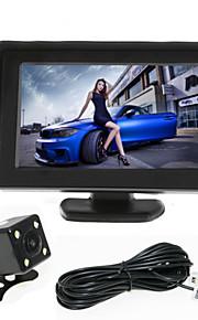 renepai® 4,3 inch monitor + 170 ° hd auto achteruitrijcamera + high-definition groothoek waterdicht CMOS-camera