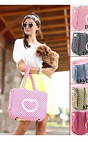 Heart Stylish with Dot Patten Design Carrying Bag for Dogs and Cats(Assorted Color)