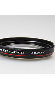Zomei Ultrathin 49mm 0.45X Wide Angle Lens Without Vignetting Wide Angle Lens for Canon Nikon