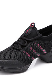 Sapatos de Dança(Preto / Branco) -Feminino-Não Personalizável-Tênis de Dança / Moderna