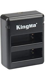 Kingma bm020 dual-usb dual-slot acculader voor GoPro hero 4 / GoPro ahdbt-401 - zwart + grijs