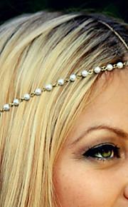 europeisk stil enkle estetiske fashion vill perle beaded pannebånd