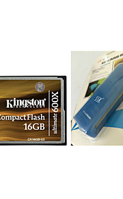 Kingston 16GB Ultimate 600x CompactFlash Memory Card (CF/16GB-U3) And CF Card Reader