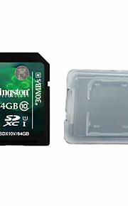 kingston digitale 64gb class 10 SD-geheugenkaart en de doos geheugenkaart
