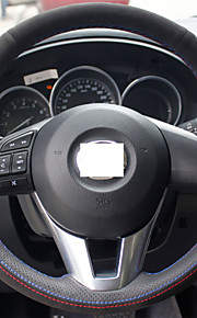 Xuji ™ zwart lederen suede stuurwiel dekking voor 2012 2013 Mazda CX-5 CX5 2014 2015 Mazda 6 Atenza Mazda 3