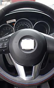 Xuji ™ sort ægte læder ruskind rat dækning for 2012 2013 Mazda CX-5 CX5 2014 2015 mazda 6 Atenza mazda 3