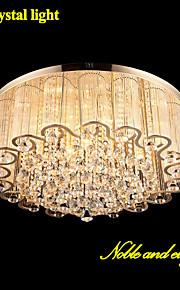 Lustre - Contemporain/Traditionnel/Classique - avec Cristal/LED/Ampoule incluse - Métal