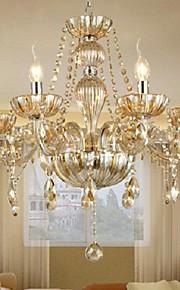 Chandelier Crystal Luxury Modern 1 Tiers Living 6 Lights