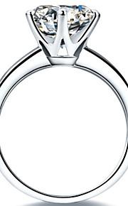 t echte Garantie 2ct Solitärring Fingereingriffs weibliche sona Diamant 6prongs Einstellung 925 Silber 18k vergoldet