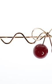 europeisk stil mote enkel manuell røde kirsebær hårnål