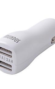 Dual USB auto sigaret aangedreven lader voor USB-apparaat (5v 2.1a)