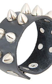 Unisex Chain Fashion Punk Style Rivet  Bracelet Faux Leather