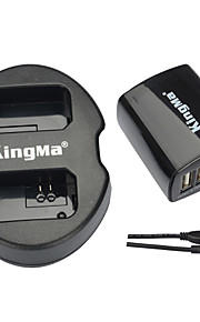 Kingma dual usb lader + muur usb lader voor Sony NP-FW50 en Sony Alpha 7, a7, 7s, A6000, nex-3n, nex-5N, slt-a33