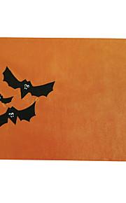 100% poliéster palo de halloween apliques bordados estera de tabla