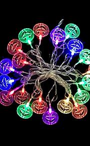 2W 4 Meter Außendurchmesser 20pcs Lampe LED-Modellierung Schnurbeleuchtung bunten Kürbissen Lichter, RGB-Farb