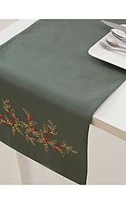 вышивка украшение стола бегун стол оливкового цвета бегун стол