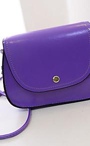 Women 's PU Baguette Shoulder Bag - White/Pink/Purple/Blue/Brown/Black