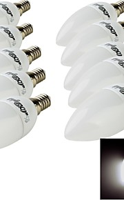 10 stk. YouOKLight E14 3 W 10 SMD 2835 200 LM Varm hvit/Kjølig hvit Dekorativ Lysestakepære AC 220-240 V