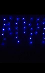 4W 3 Meter lange 100pcs LED-String-Licht mit AC110-220V Eingang PVC transparent, Farbe blau