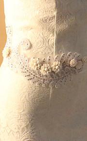 Ceinture Satin Ceintures pour Femmes Mariage/Fête/Soirée Fleur/Strass