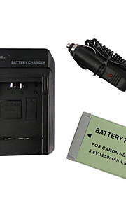 13L camera 1250mAh accu + autolader voor Canon PowerShot G7 x