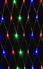 5W 1.5x1.5 Meter 96pcs führte net Licht mit AC110-220V Eingang PVC transparent, rot / grün / blau / gelb Farbe