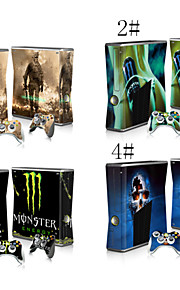 schattige / cool / ijstijd / cartoon huid sticker sticker voor Xbox 360 slim console&controlers