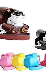dengpin pu lederen afneembare camera case tas te dekken met schouderband voor samsung nx3300 NX3000 (verschillende kleuren)