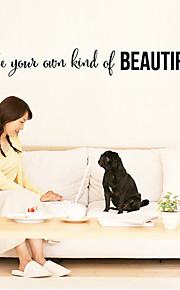 Wall Stickers Wall Decals,Be Your Own Kind of Beautiful English Words & Quotes PVC Wall Stickers