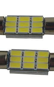 2pcs carking ™ festone 36 millimetri / 39 millimetri / 41 millimetri 2W 9 * 5630SMD 215ml luce bianca 6000k ha condotto la lampada Roma