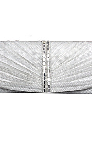 Women Satin Event/Party Evening Bag White / Gray / Black