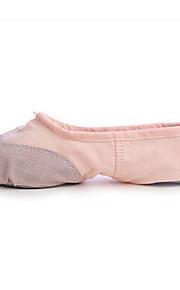 Non Customizable Women's/Men's/Kids' Dance Shoes Ballet Canvas Flat Heel Black/Pink/Red/White
