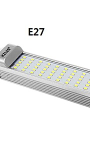 g24 / e27 10w 1250lm 6000k 50x2835smd lumière blanche froide conduit ampoule de maïs (AC85-265V)