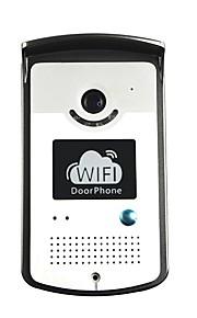 wifi ip video deurtelefoon deur intercom deurbel met twee weg spraak, mobiele apps en bewegingsdetectie