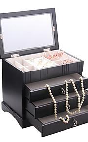 bijoux en bois moderne boîte la boîte à bijoux multicouche vent européen et américain