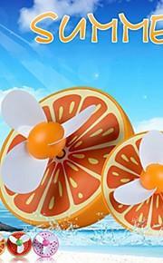 ny ankomst mini usb nydelig frukt form oppladbart fan (tilfeldige farger)