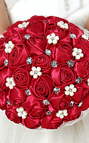 Bouquet sposa Tondo Rose Bouquet Matrimonio Raso 22cm