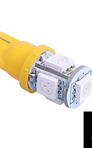 t10 1w 100lm 5x5050 giallo / rosso / blu / fredda luce / caldo per cardashboard / porta / trunk lampsdc12v