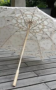 Bryllup / Strand / Daglig / Maskerade Blonde Paraply 26 tommer (ca. 66cm) Metal / Træ 30.7 tommer (ca. 78cm)