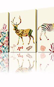 걸 준비 캔버스 그림에 시각적 star®abstract 공작 동물 팝 벽 예술