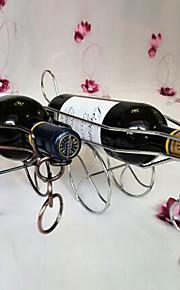 metall kanon formet vin flaskeholder stativ kjøkken bar lagring bordstativ (tilfeldig farge)