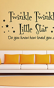 Wall Stickers Wall Decals Style Twinkle Little Star English Words & Quotes PVC Wall Stickers