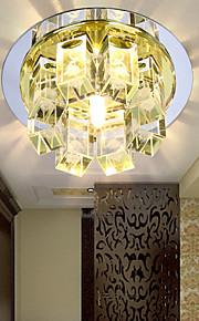 3W Flush Mount Crystal/LED Modern/Contemporary Bedroom/Hallway Metal